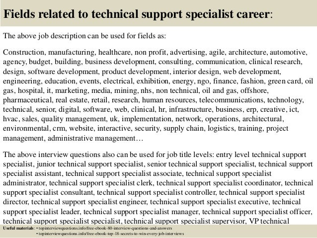 Top 10 technical support specialist interview questions and answers
