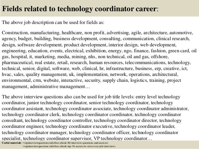 top 10 technology coordinator questions and answers