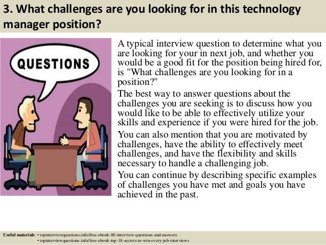 Top 10 technology manager interview questions and answers