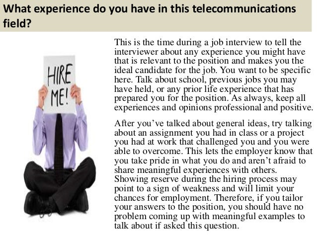 top 10 telecommunications interview questions and answers