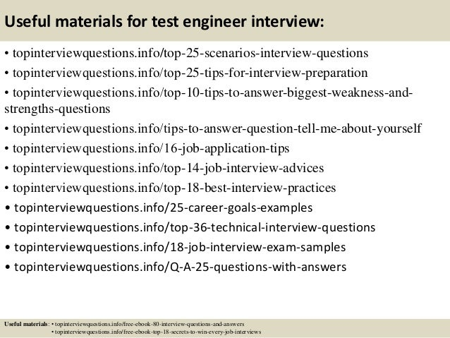 Top 10 Test Engineer Interview Questions And Answers