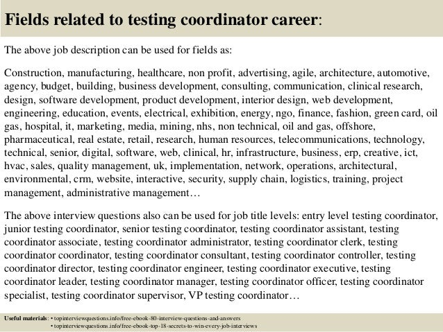 top 10 testing coordinator interview questions and answers