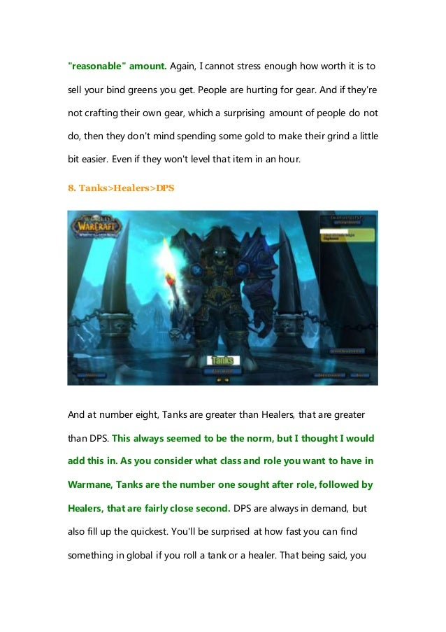 Top 10 things you should know about warmane