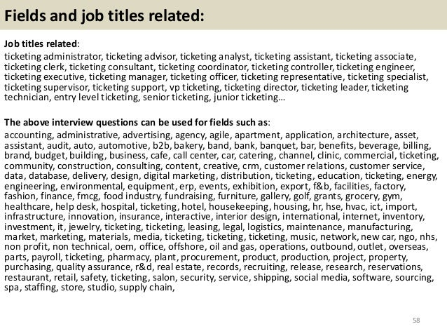 Entry Level Administrative Associate Specialist Odessa Tx Usa: Top 36 Ticketing Interview Questions With Answers Pdf