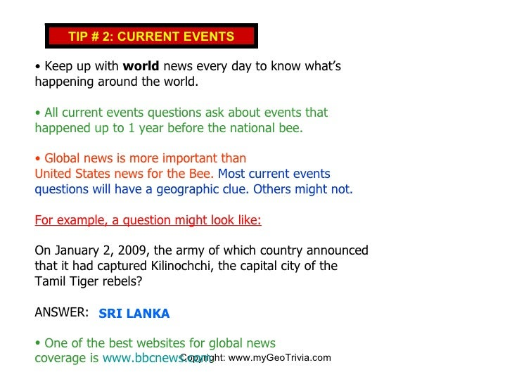 ten world current events The top 10 everything of 2009 time charts the highs and lows of the past year in 50 wide-ranging lists news, politics & science arts & entertainment.