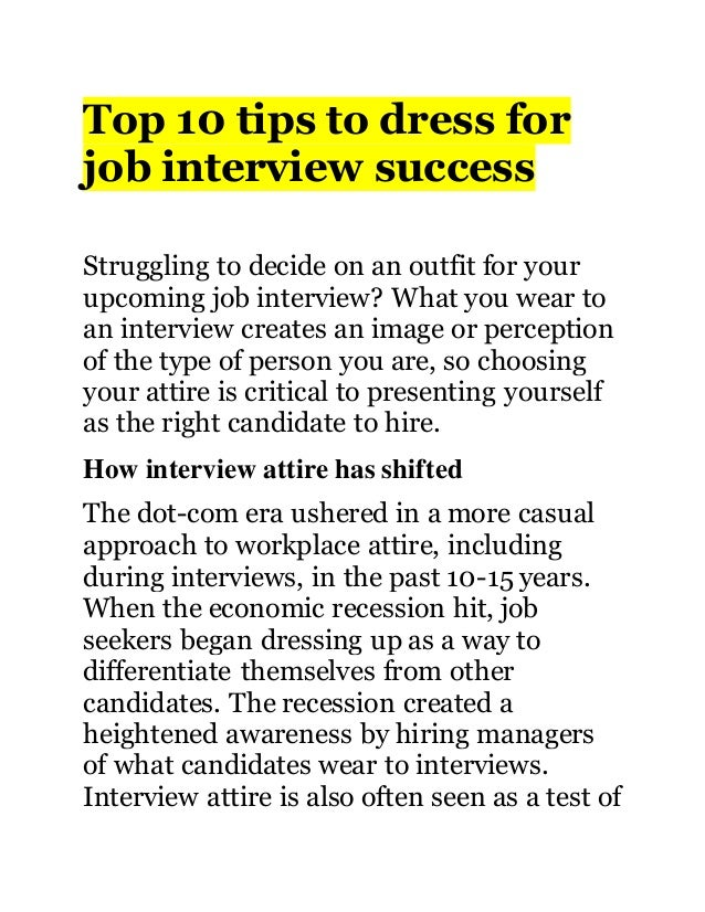 top 10 tips to dress for job interview success struggling to decide on an outfit for - How To Dress For An Interview Success