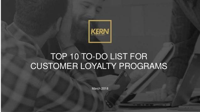 top 10 to do list for customer loyalty programs