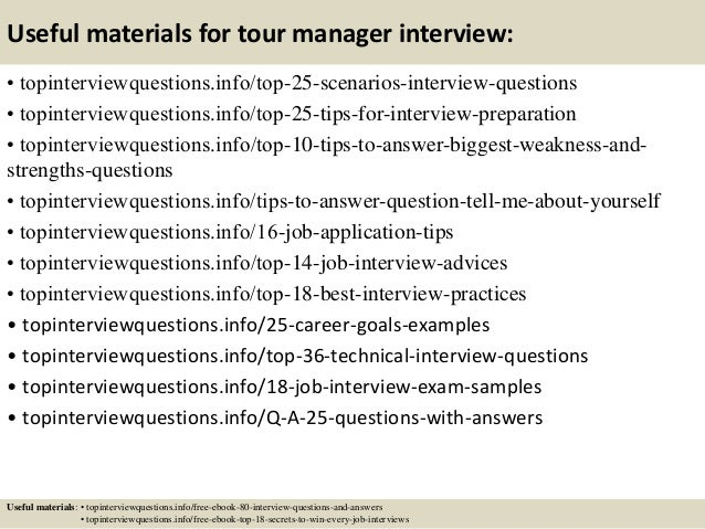 13 useful materials for tour manager