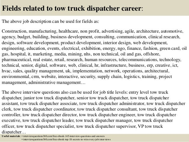 Top 10 tow truck dispatcher interview questions and answers