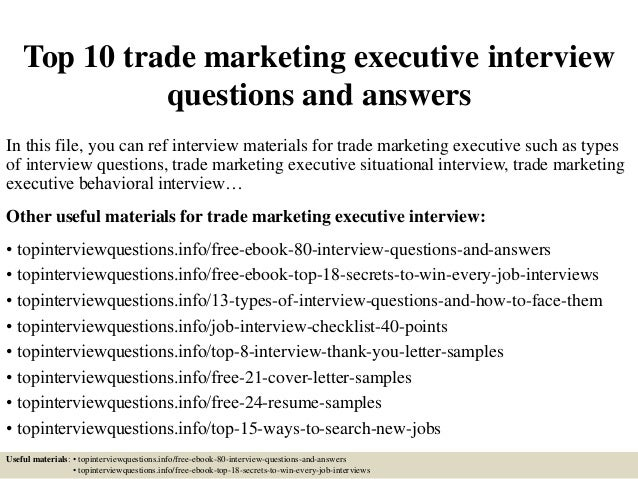TopTradeMarketing ExecutiveInterviewQuestionsAndAnswersJpgCb