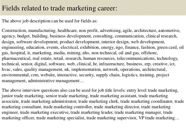 Top 10 Trade Marketing Interview Questions And Answers