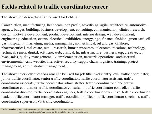Top 10 traffic coordinator interview questions and answers