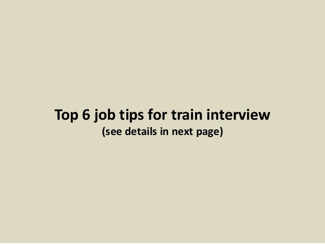 on site interview tips