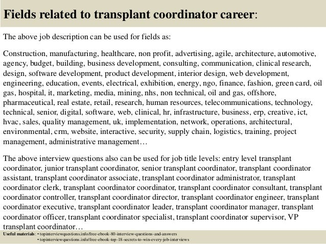 Top 10 transplant coordinator interview questions and answers