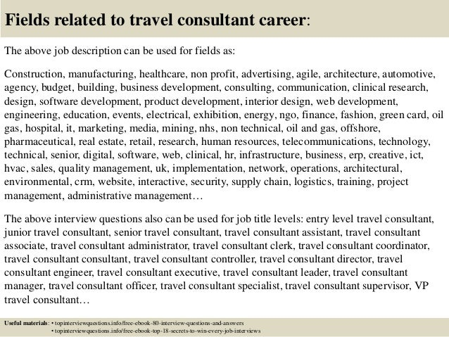 Top  Travel Consultant Interview Questions And Answers