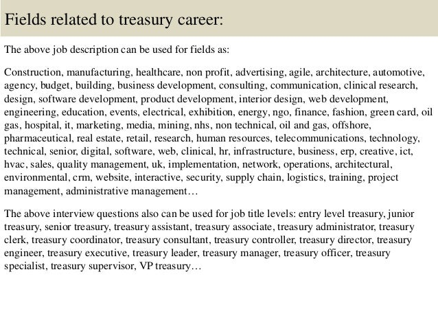 16. Fields Related To Treasury ...