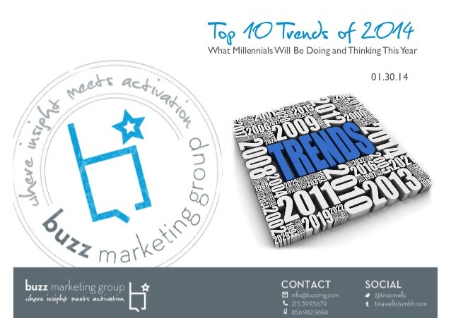 Top 10 Trends of 2014  What Millennials Will Be Doing and Thinking This Year	   01.30.14