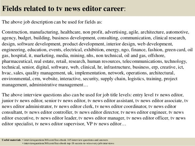 Tv News Editor Cover Letter. Patti Tripathi 2016 Resume News ...