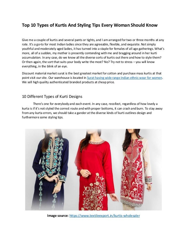 Top 10 Types Of Kurtis And Styling Tips Every Woman Should Know