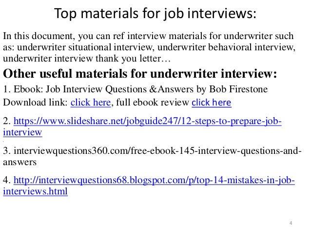 trainee underwriter interview questions