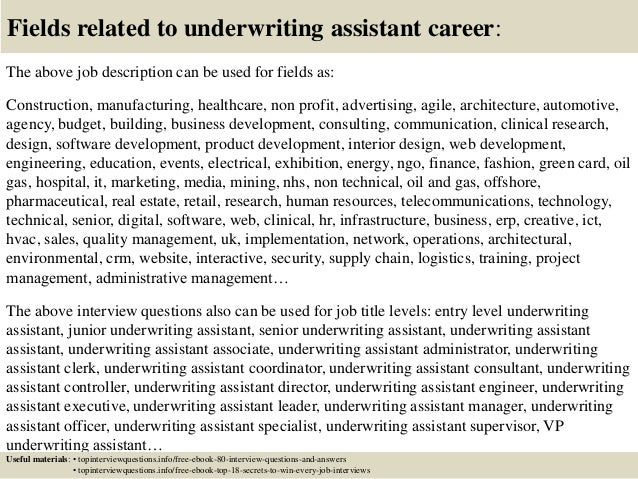 ... 17. Fields Related To Underwriting Assistant ...