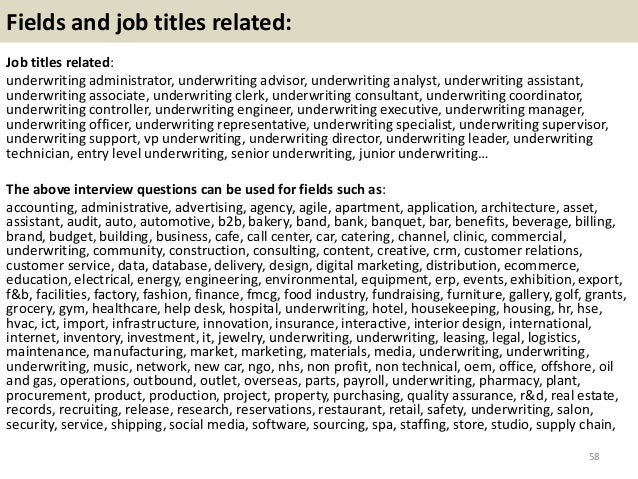 Top 36 Underwriting Interview Questions And Answers Pdf