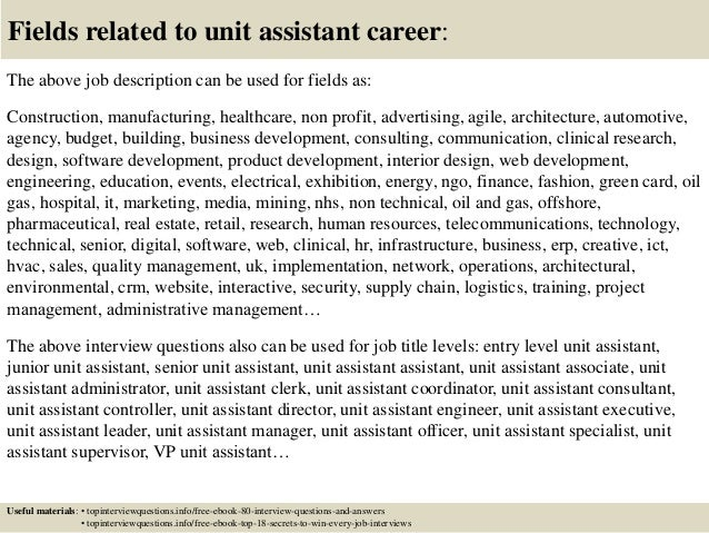 Emejing Unit Assistant Cover Letter Images - Resumes & Cover Letters ...