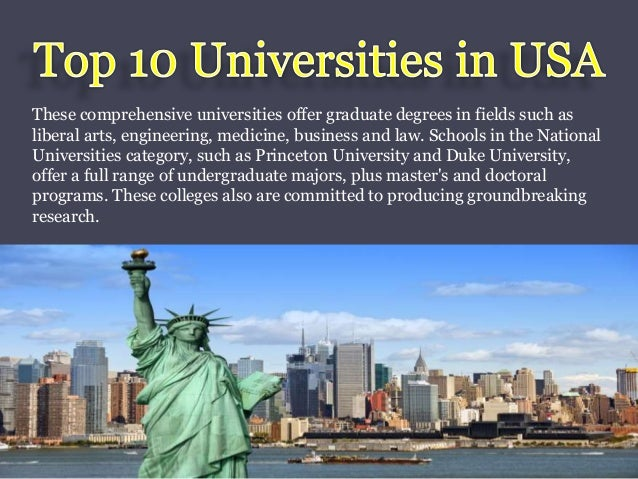 universities usa offer engineering medicine slideshare degrees business arts