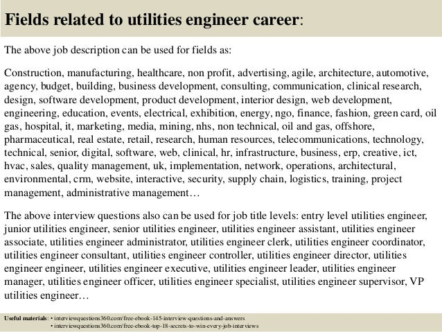 Top 10 utilities engineer interview questions and answers