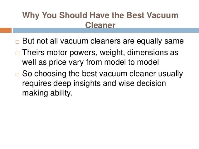 Top 10 vacuum cleaners of 2015 3 why you should have the best vacuum cleaner sciox Choice Image