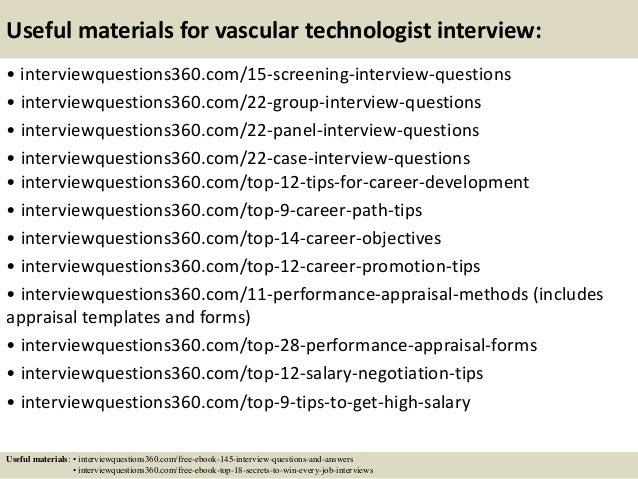 Top 10 vascular technologist interview questions and answers