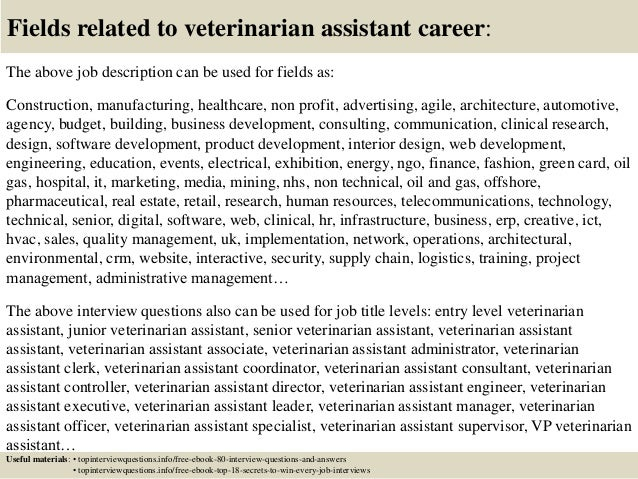 Top 10 veterinarian assistant interview questions and answers – Veterinarian Job Description