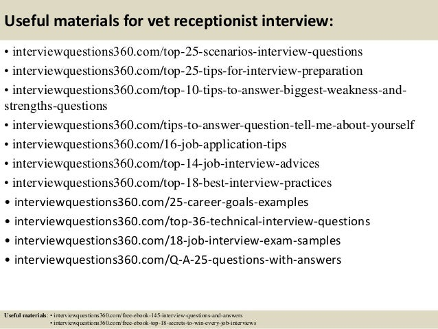 Amazing ... 14. Useful Materials For Vet Receptionist Interview: ...