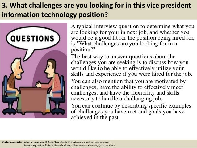 Top 10 vice president information technology interview questions and …