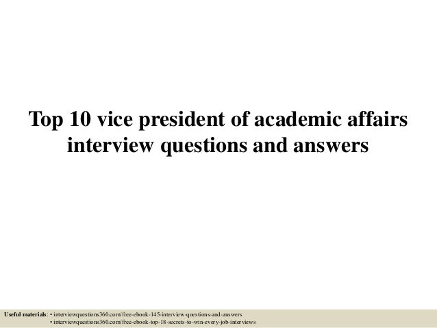 academic interview questions and answers pdf