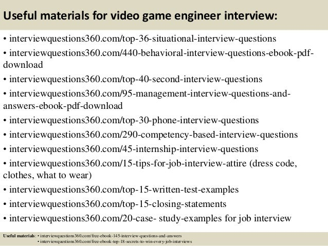 Top 10 Video Game Engineer Interview Questions And Answers