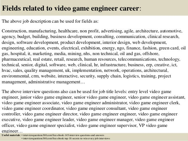 Top  Video Game Engineer Interview Questions And Answers
