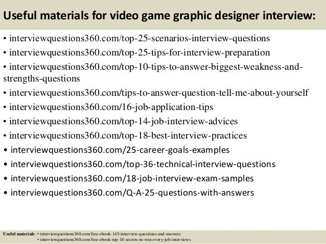 Top 10 video game graphic designer interview questions and answers