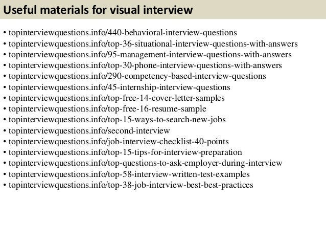 11. Useful Materials For Visual Interview ...