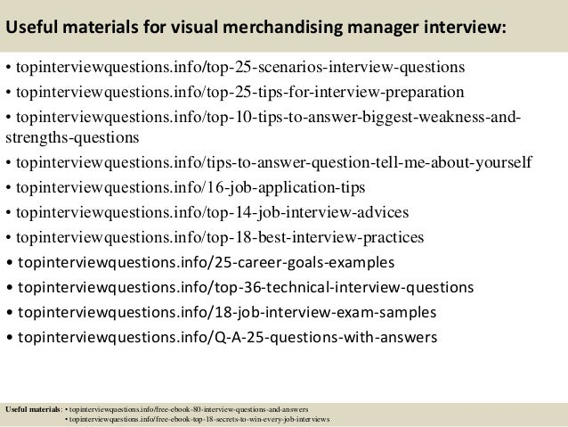 Top  Visual Merchandising Manager Interview Questions And Answers