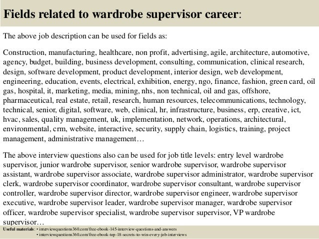 Wardrobe Manager Cover Letter. Cover Letter Ideas Of Wardrobe ...
