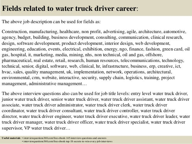 truck driver example cover letter