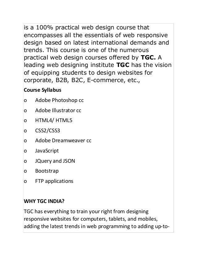 Top 10 Web Designing Course In Depth Training Programs Institutes N