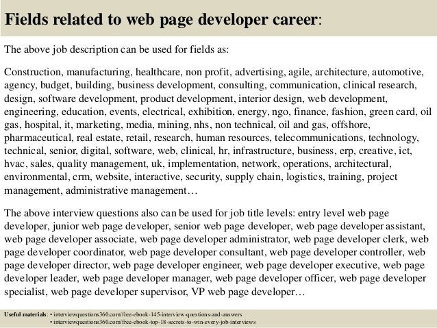 Top 10 web page developer interview questions and answers