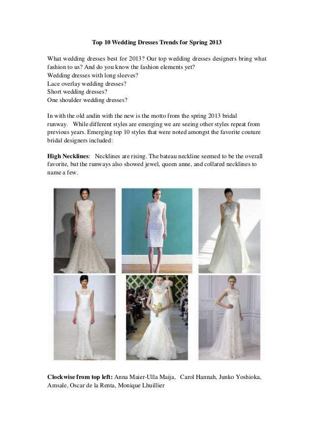 Top 10 Wedding Dresses Trends For Spring 2013,Teal Bridesmaid Dresses For Beach Wedding