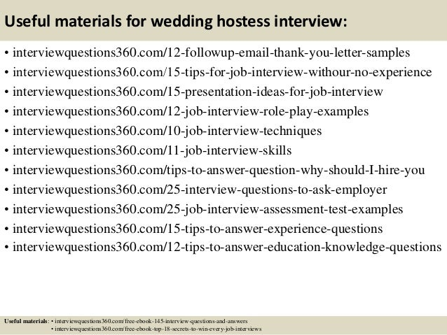 Top 10 Wedding Hostess Interview Questions And Answers