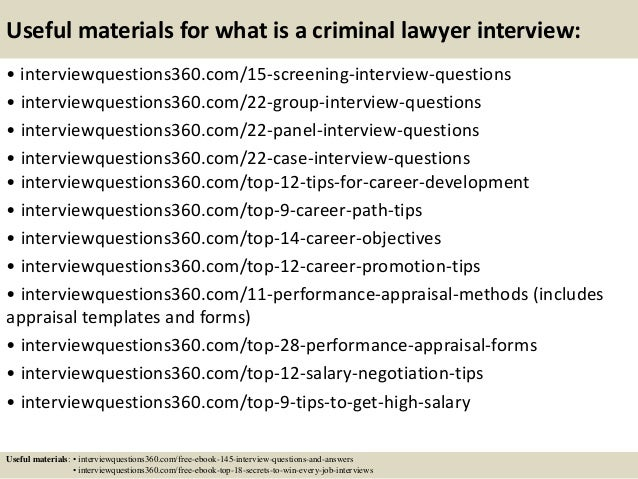 16 - Lawyer Interview Questions And Answers