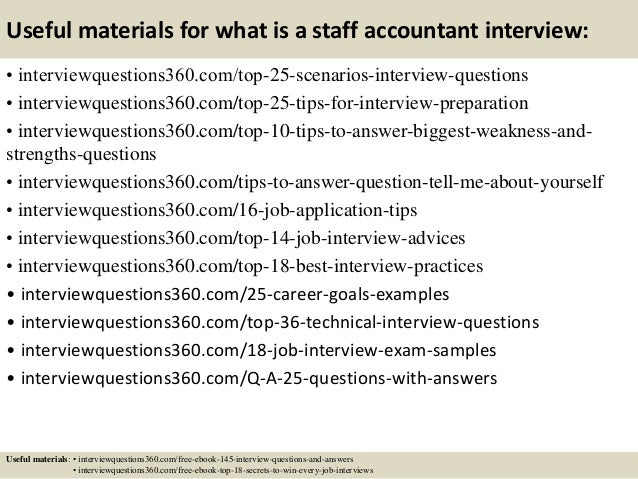 Top  What Is A Staff Accountant Interview Questions And Answers