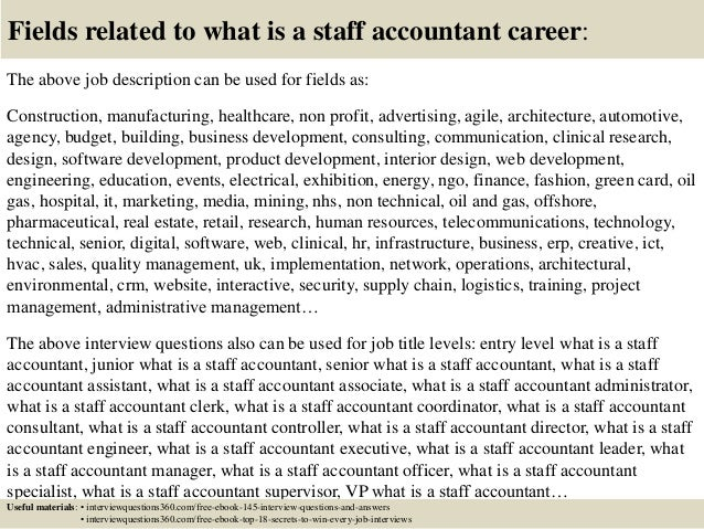 Top 10 What Is A Staff Accountant Interview Questions And Answers