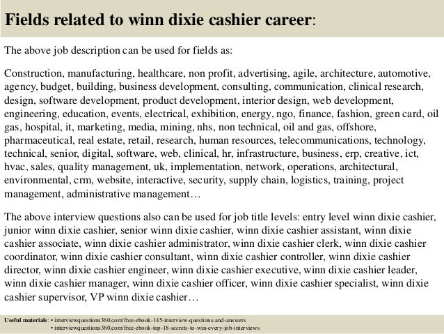 Top 10 winn dixie cashier interview questions and answers